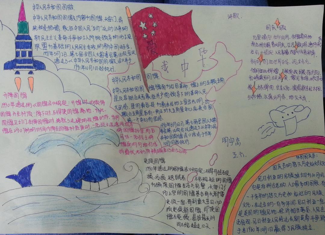 爱我中华版面设计图