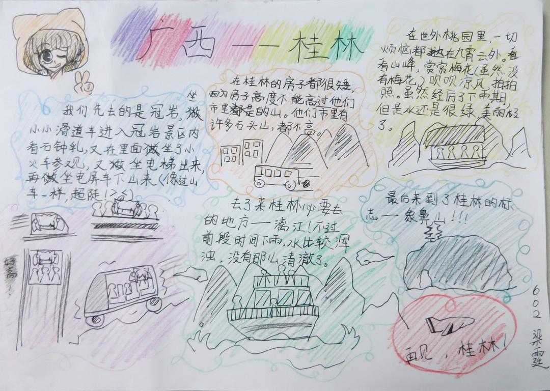 广西――桂林手抄报资料