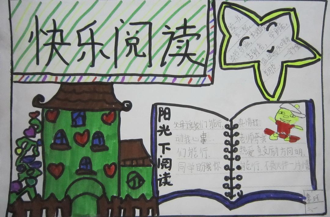 二年级快乐阅读手抄报图片,内容