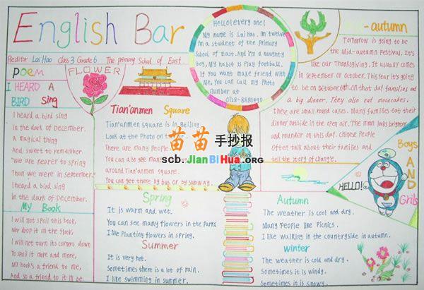 蔬菜水果英语手抄报         快乐英语手抄报版面设计图