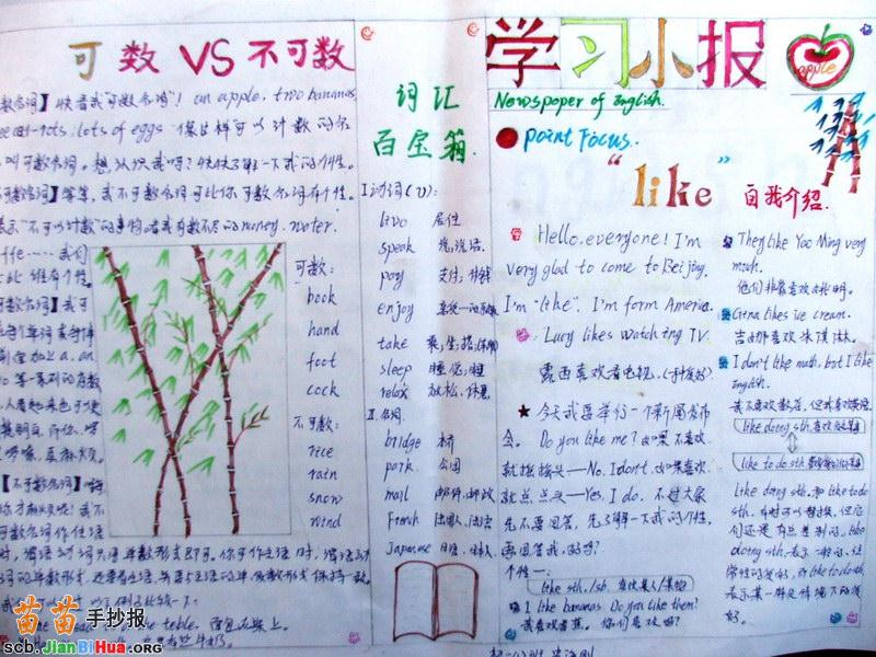 小学生学习手抄报图片