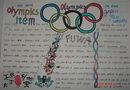 奥运五环英语手抄报